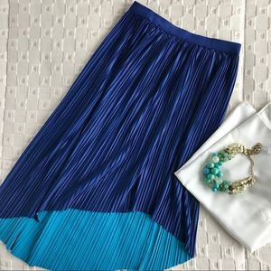 Dresses & Skirts - Pleated duo colored skirt- S